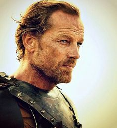 Ser Jorah Mormont (Iain Glen) Ser Jorah is the son of Ser Jeor Mormont, Lord Commander of the Night's Watch.  A knight and former heir to Bear Island, Ser Jorah fled the Seven Kingdoms into exile after illegally selling some poachers into slavery. Five years later, he joined the service of Viserys Targaryen and his sister, Daenerys Targaryen, the exiled claimant to the Iron Throne of the Seven Kingdoms.