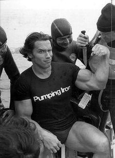 43 Hilarious Old Photos of Arnold Schwarzenegger Doing Stuff