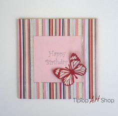 11 best butterfly greeting cards images on pinterest greeting unique happy birthday paper handmade greeting card by tiptopartshop 990 m4hsunfo