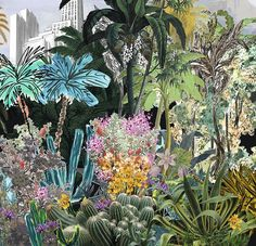 Bagatelle Reglisse mural by Christian Lacroix Christian Lacroix Wallpaper, Paper Wallpaper, Toile Wallpaper,