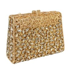 """Purple Box Diamond Women Clutch Bag Crystal Party Handbag Ladies Banquet Purse Fashion Pochette Prom#334. 100% handmade evening bags. Manufacturing time 2-4 days, shipping time 3-5 days. Tracking number available.      The evening bag has a chain.  Approx dimension: 7"""" (L) x 1.8"""" (W) x 4.4"""" (H)."""