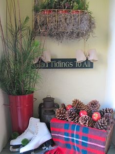 Welcoming Christmas - My Holiday Front Porch by My Soulful Home | My Soulful Home
