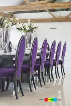 Dining RoomDecorating Purple Room Space Walls Paint Ideas Table And Chairs