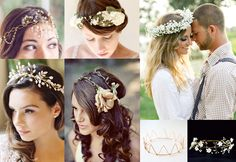 What to Wear Wednesday!: Your Crown!  Who wouldn't want to feel like the King or Queen they truly are on their Big Day? Wear your crown proud and walk down the isle feeling like royalty!  What are your thoughts on wearing a crown or halo instead of more traditional pieces? Share your ideas with us at Elegance & Grace Weddings! #eleganceandgraceweddings #weddings #royalty #crown #halo #veil #hat #king #queen #modern #bride #groom #innovative #diy