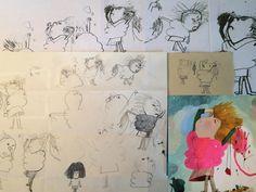 Development work for 'Le Merveilleux Dodu-Velu-Petit' (The Wonderful Fluffy Little Squishy) by Beatrice Alemagna