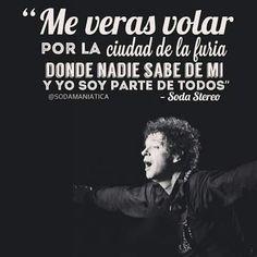 En la ciudad de la furia Song Quotes, Music Quotes, Music Lyrics, Soda Stereo, Rock Songs, Rock Music, Dark Quotes, Best Quotes, Rock Argentino