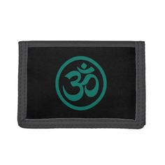 Teal Blue and Black Yoga Om Circle Trifold Wallet   yoga postures, begginer yoga routine, yoga transitions #yogatips #yogalove #yogaflow, 4th of july party