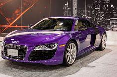 Purple Audi r8! I literally just died!