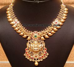 Light Weight Temple Mango Necklace from NAJ ~ South India Jewels Mango Necklace, Gold Choker Necklace, Antique Necklace, Short Necklace, Moon Necklace, Gold Necklaces, Necklace Set, Kids Gold Jewellery, Gold Temple Jewellery