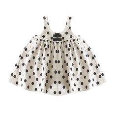 Robe blanche à pois La Petite Ourse, Robes Bébé Fille 0-3 - Kidiliz