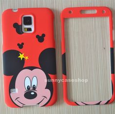 Cartoon cute red mickey Fullbody hard case cover for samsung galaxy S5 SV note3  #Romrichcaseshop