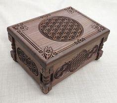 Flor de la vida - pequeño joyero, caja de regalo, hechos a mano, modificado para requisitos particulares