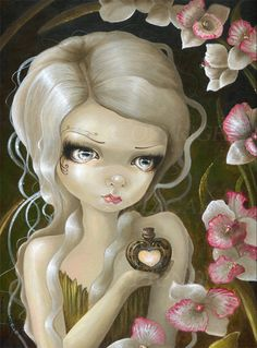 Taradoll OOAK Original painting big eyes doll art by Taradolls