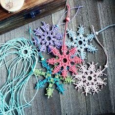 Macrame Snowflakes by HempCraft