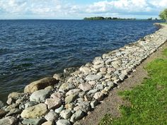 Lake Vättern from Vadstena lakefront