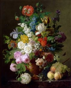 Jan Frans Van Dael - Antique still life flower painting