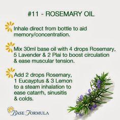 Rosemary Essential Oil - #baseformula #essentialoil #aromatherapy #Rosemary #natural #health #holistic #nature #homeremedies