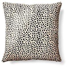 Cheetah Pillow, Beige