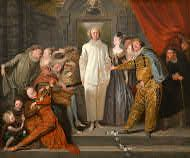 The Italian Comedians, Jean-Antoine Watteau, probably 1720. The National Gallery of Art. Samuel H. Kress Collection