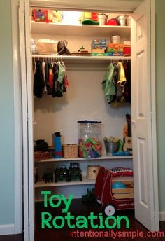 Toy rotation really helps keep your home from becoming overtaken by toys!