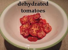 Dehydrated Tomatoes, just like Sundried! More info. at easy-food-dehydrating.com
