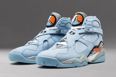 timeless design 829d3 89758 Air Jordan 8 Ice Blue Release Date. The Air Jordan 8 Ice Blue was a women s  release back in 2007 dressed in Ice Blue, Silver and Orange Blaze color  scheme.