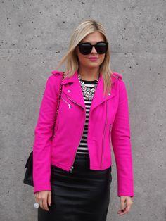 Hot Pink Moto Jacket