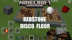 MInecraft PE: How To Make Redstone Disco Floor (0.13.0 Update)