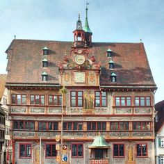 Beautiful old townhall in Tübingen/Germany