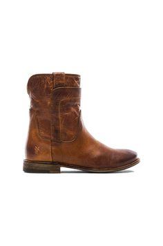Frye Paige Short Boot in Cognac   REVOLVE