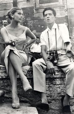 Anita Ekberg and Photographer Pierluigi Praturlon On The Set Of La Dolce Vita Rome 1960 Hollywood Stars, Classic Hollywood, Old Hollywood, Anita Ekberg, Divas, Black And White Couples, Black White, Swedish Actresses, Italian Actress