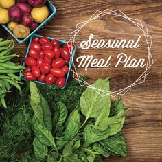 Seasonal Meal Plan. Nutritious, easy meals complete with calendar, grocery lists and recipes. Never worry about what to cook again. Never again throw away food you forgot you bought. $35.00