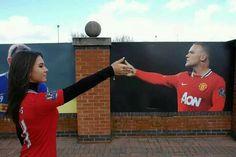 Creatieve Manchester United fan