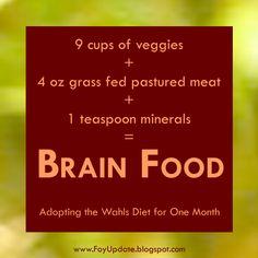 Foy Update: Brain Food - Adopting the Wahls Diet | The Wahls Paleo Diet