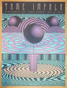 2015 Tame Impala - Minneapolis Silkscreen Concert Poster by Status Serigraph