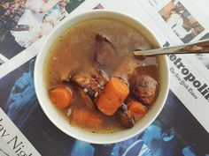 """Beef"" up your broth by adding cooked veggies and meat. Photo: Rochelle Bilow"