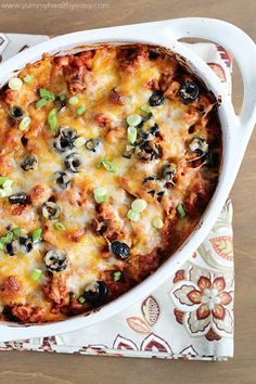 Love enchiladas but hate filling and rolling up all those tortillas? This Enchilada Casserole is all the yummy, cheesy goodness of enchiladas but in an easy casserole form!