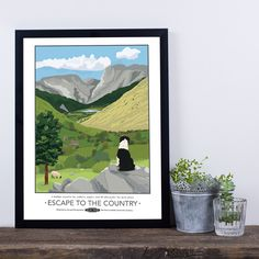 Escape to the Country Giclee Print by TabithaMary on Etsy
