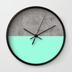 Sea+on+Concrete+Wall+Clock+by+Cafelab+-+$30.00
