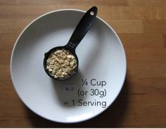Oats - Serving size