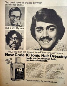 Code 10 Tonic for Hair Dressing, 1978. Join us at http://www.turtok.com/