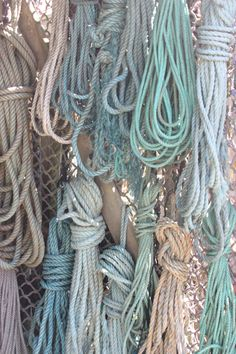beautiful hues of coloured rope