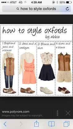 Just bought my first pair of oxfords in taupe from shoe carnival so of course I had to look up how to style them :)