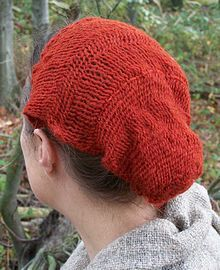 Reconstruction of an iron age sprang hairnet from Denmark.