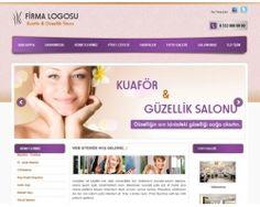 Kuaför ve güzellik salonları için hazır web sitesi scripti.