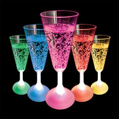 Flashing LED Champagne glasses