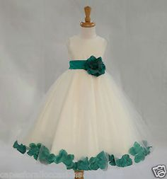 Ivory Flower Girl Dress Pageant Wedding Bridesmaid Dance Party 12 18M 2 4 6 8 10 | eBay