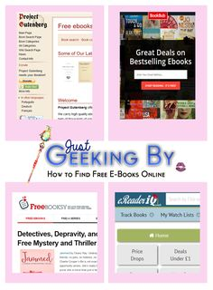 Sharing Saturday: Finding free Ebooks online - Just Geeking By