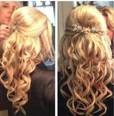 Curly prom hair!