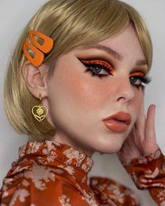 Retro Makeup, Edgy Makeup, Makeup Eye Looks, Creative Makeup Looks, Eye Makeup Art, Cute Makeup, Makeup Inspo, Makeup Inspiration, 70s Disco Makeup